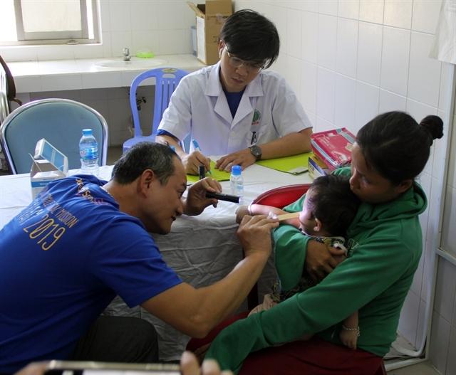 Children receive cleft lip palate jaw surgeries