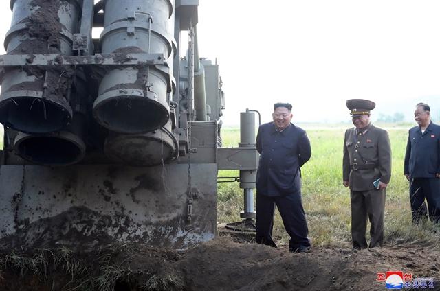 N. Korea says it tested super-large multiple rocket launcher