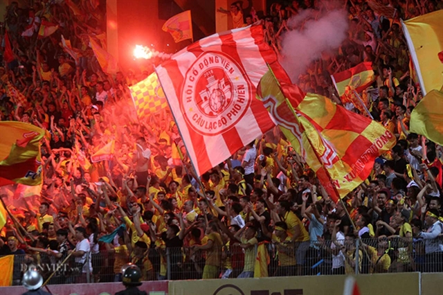 V.League clubs fined after flare troubles