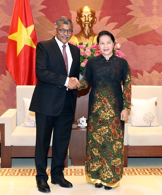 Parliamentary leader welcomes chief justice of Singapore