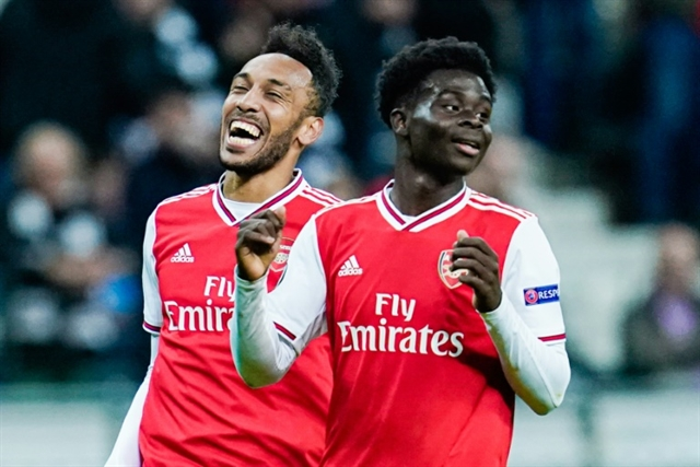 Dream come true as teen Saka shines for Arsenal in Europe