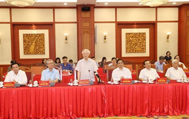 Former leaders give feedback on draft political report