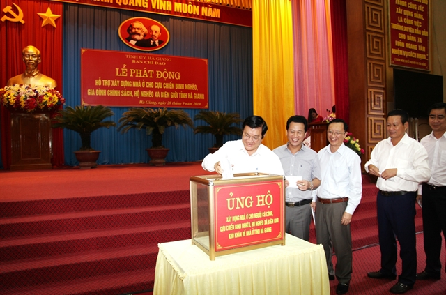 Hà Giang launches fundto build houses for poor people