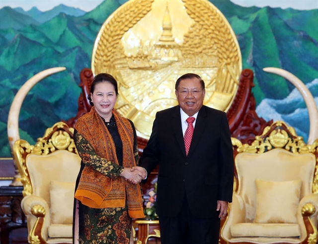NA chairwoman meets Lao top leader