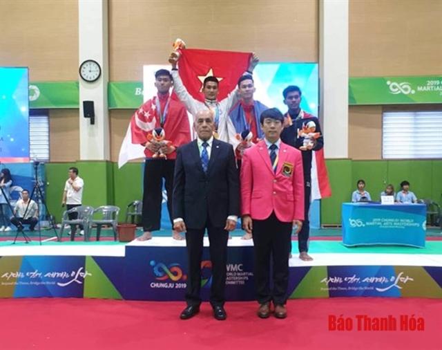 Toàn wins gold at World Martial Arts Masterships