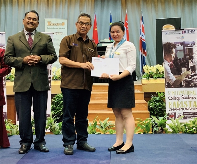 Vietnamese student wins International College Students Barista Championship