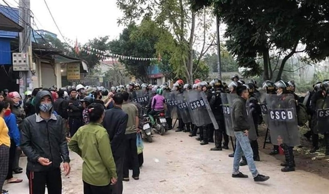 Public security ministry discloses details in violent Đồng Tâm incident