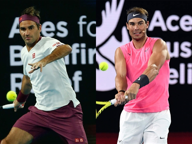Federer Nadal lead stars swinging racquets for bushfire relief