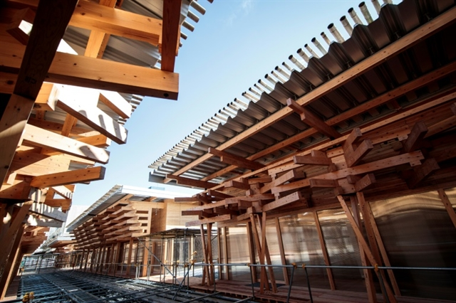 Tokyo 2020 unveils Olympic plaza made from donated wood