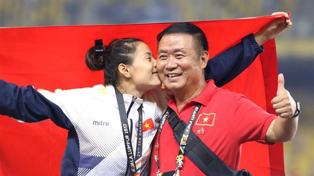 Athletic coach Vũ Ngọc Lợi plays a key role in many athletes success