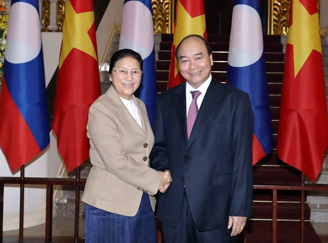 Prime Minister receives Lao NA Chairwoman