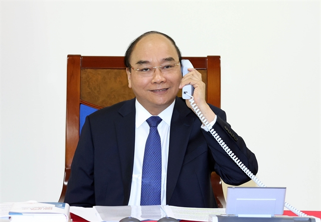 Vietnamese leader hold phone talks with Japanese counterpart