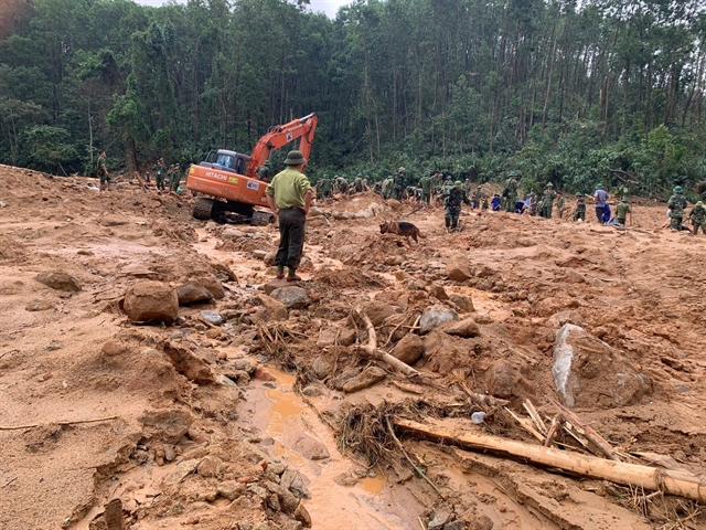 Thirteen bodies found near landslide as of 7pm
