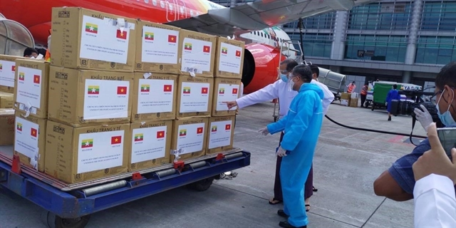 Việt Nam presents medical supplies to Myanmar