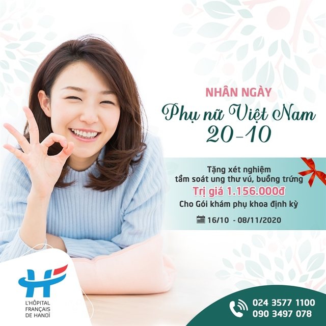 Special offer on Vietnam Womens Day 20-10 for gynecological screening programme