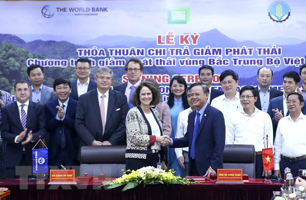 Việt Nam WB sign emissions reduction purchase agreement