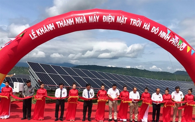 One more solar power plant inaugurated in Ninh Thuận