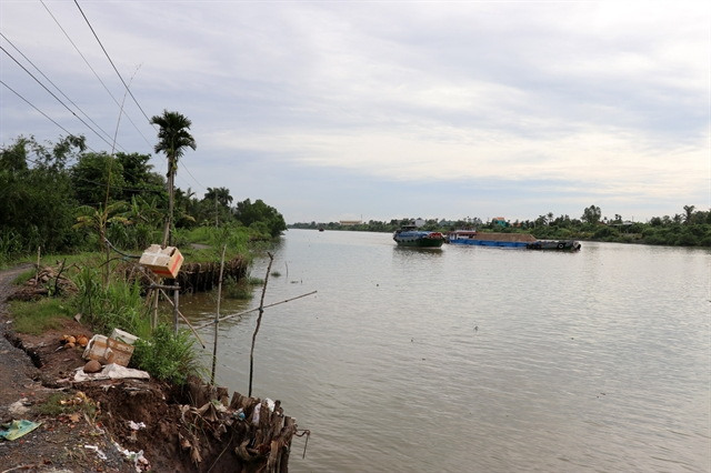 Tiền Giang faces worsening river canal erosion
