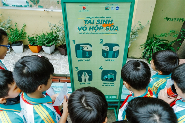 400 schools in HCM Citytake part in Green journey recycling milk cartons contest