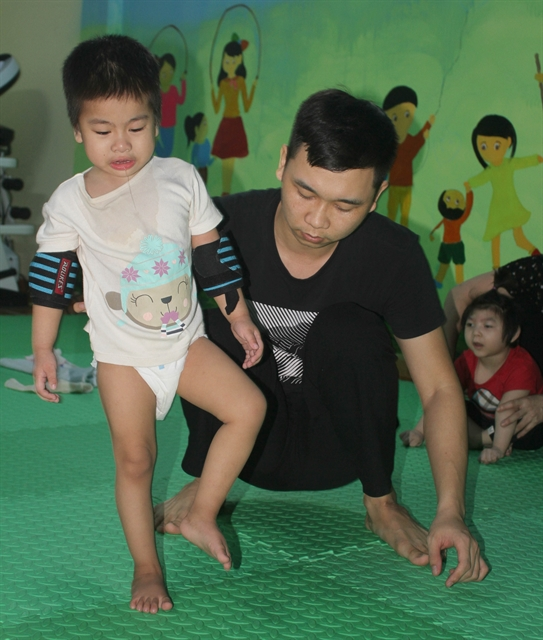 Rehab home for children with cerebral palsy in Ninh Bình