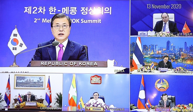 RoK commits to supporting Mekong countries in accessing COVID-19 vaccine: President Moon