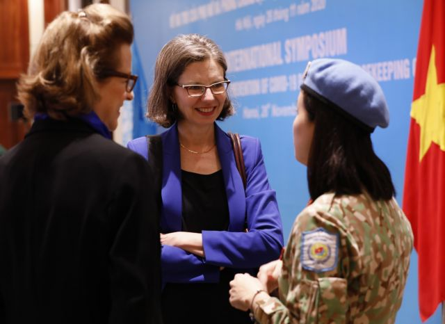 Women play key role in COVID-19 prevention in UN peacekeeping operations