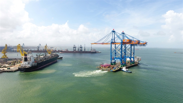 Locally-made giant cranes shipped to Gemalink International Port
