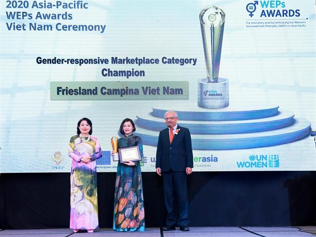 Friesland Campina Viet Nam wins Womens Empowerment Principles (WEPs) Awards