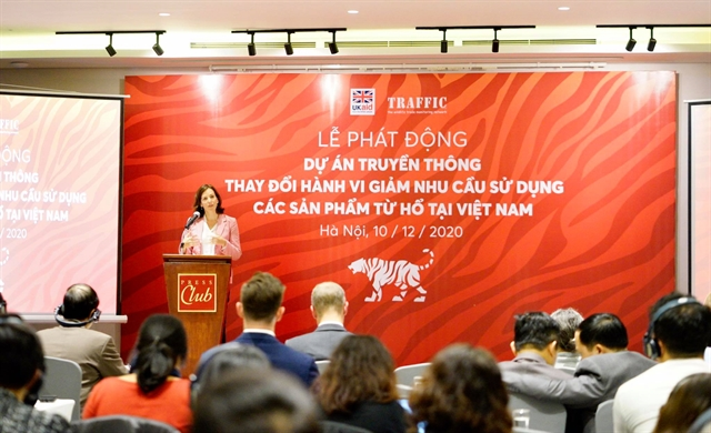 TRAFFIC launches social marketing initiative to drive down tiger product consumption in VN
