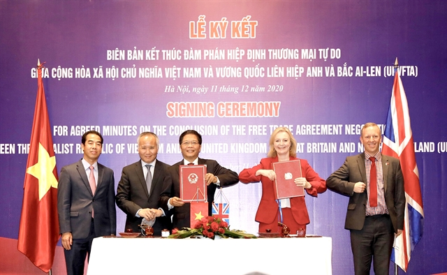 Việt Nam-UK announced conclusion of free trade talks