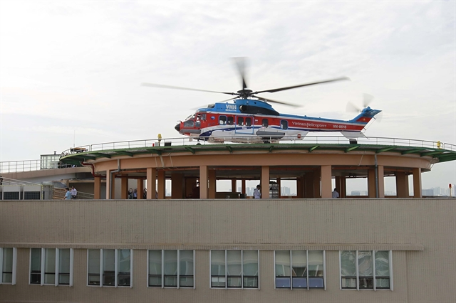Rooftop helipad opens at HCM City Military Hospital