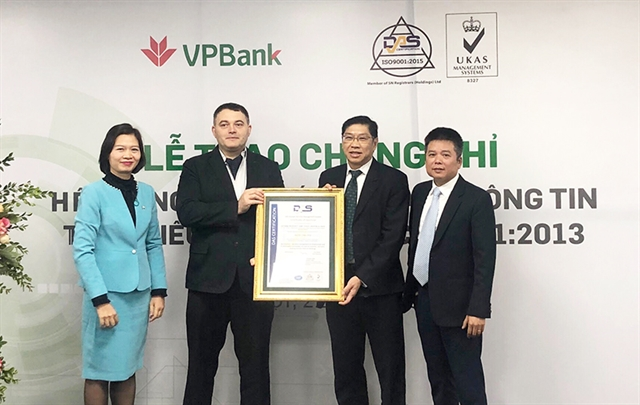 VPBank awarded ISO/IEC 27001:2013 certification
