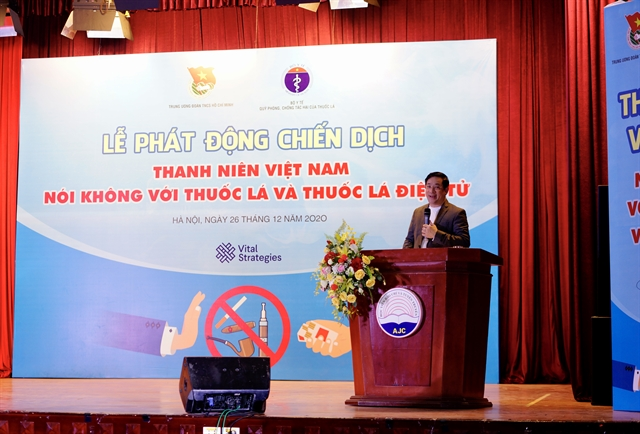 Vietnamese youth say no to cigarettes and e-cigarettes campaign launched
