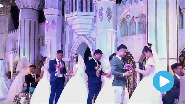 19 couples get married together in Thái Nguyên