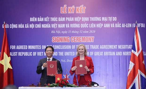 UK-Việt Nam FTA to become effective from 11pmon December 31