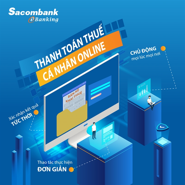 Sacombank accepts domestic tax payments via Internet Banking