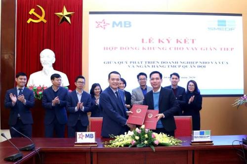 SME Development Fund and MB Bank sign indirect lending contract