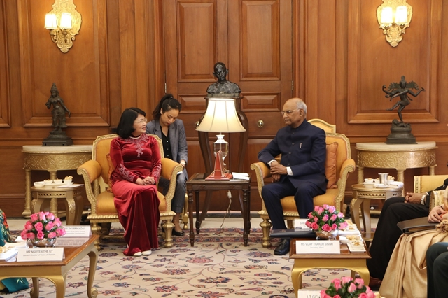 Vice President Thịnh meets Indian President