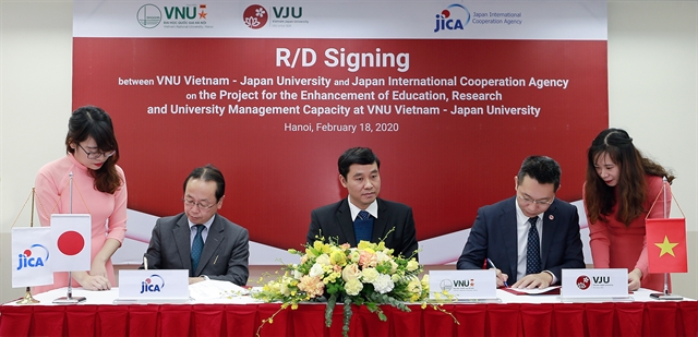 Project to better research and education at Việt Nam-Japan University inked in Hà Nội