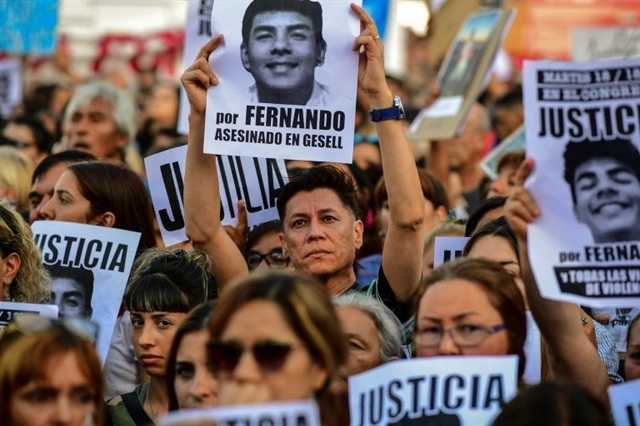 Argentine rallies demand justice for youths rugby-club killers