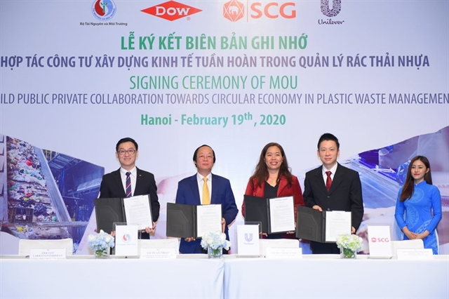 MONRE teams up with firms on plastic waste management