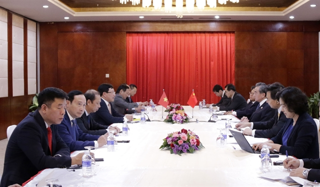 Deputy PM FM meets with Chinese Lao foreign ministers
