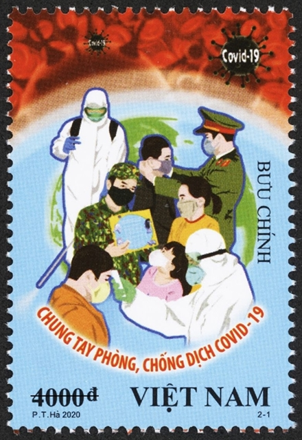 Vietnam Post issues new stamps feature battle against COVID-19