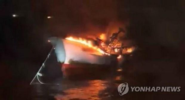 Five Vietnamese missing in fishing boat fire off Jeju Island