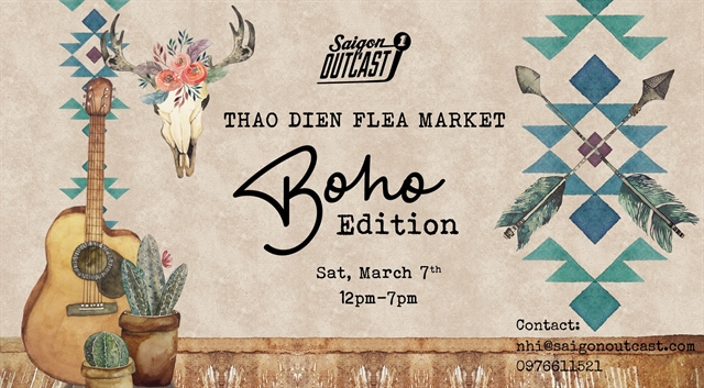 Boho flea market to open at Saigon Outcast