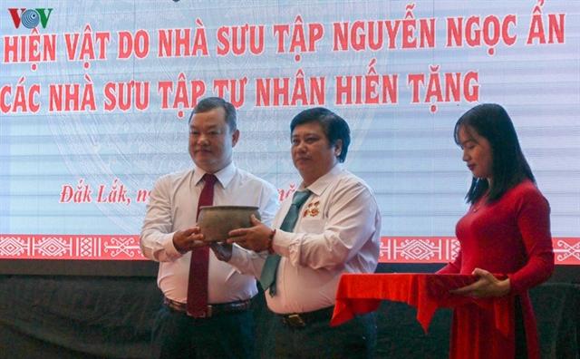 Đắk Lắk Museum receives exhibits from collectors