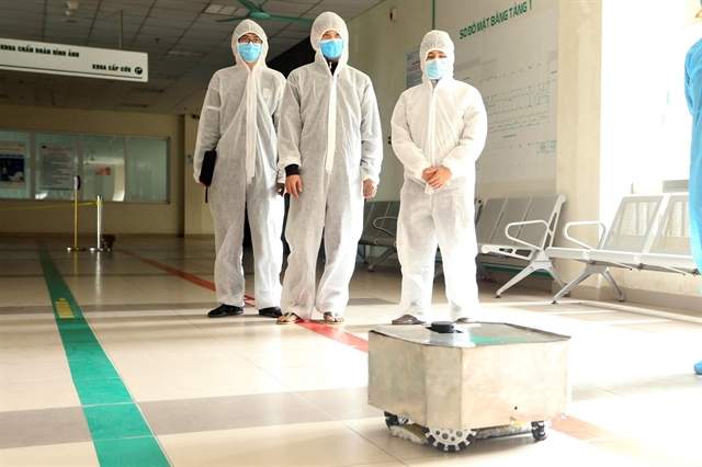 Disinfection robot put into trial operation amid COVID-19 fight