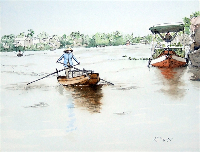 Vietnamese landscapes expressed through French tourists eyes