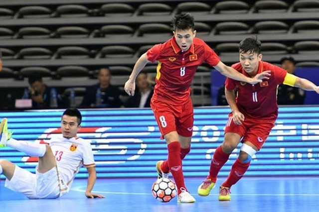 Việt Nam futsal team appear in top 10 teams in Asia