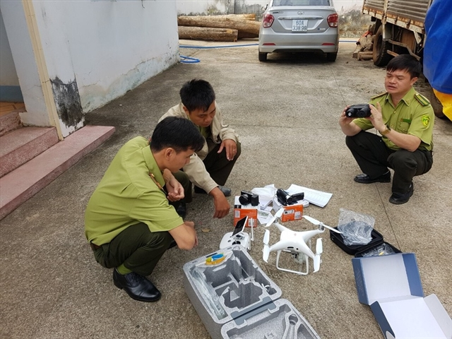 Đồng Nai uses drones to patrol forests